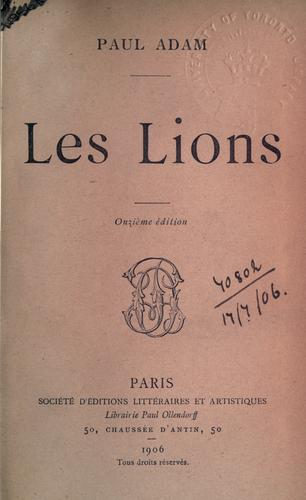 Les lions by Paul Adam