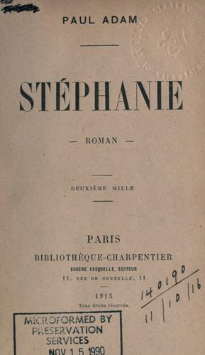 Stéphanie by Adam, Paul