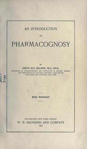 An introduction to pharmacognosy