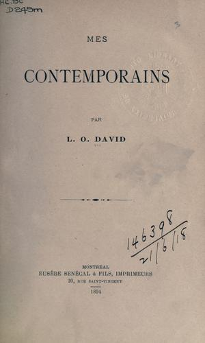 Mes contemporains by L.-O David