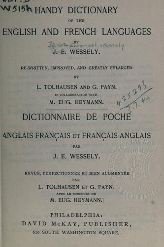 Handy dictionary of the English and French languages