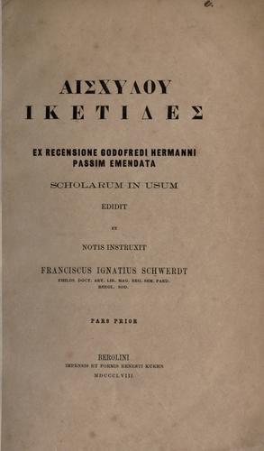 Aischylou Hiketides