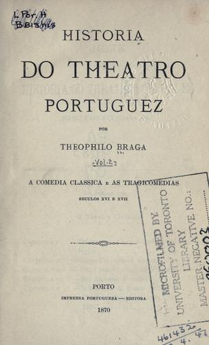 Historia do theatro portuguez